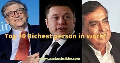 Top 10 richest person in world