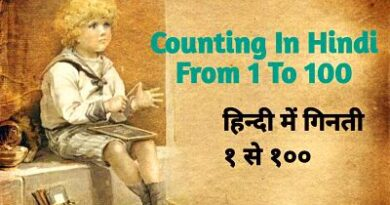 Counting in Hindi Form 1 to 100