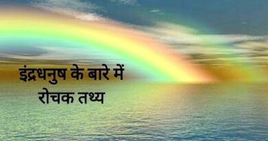 Facts about rainbow in Hindi